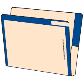 Letter Size Color Coded Folder F2640F2633
