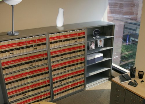 Book or File Shelving/bookcase cabinet with law books