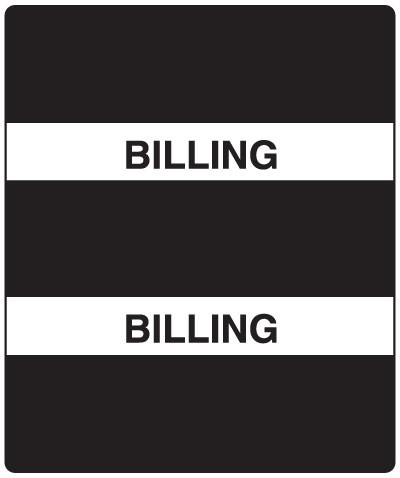 300 Series Create Your Own Patient Chart Divider Tab Billing  1-1/2