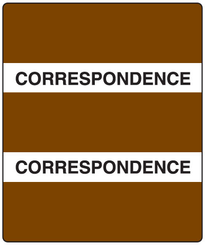 300 Series Create Your Own Patient Chart Divider Tab Brown Correspondence  1-1/2