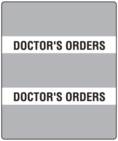 300 Series Create Your Own Patient Chart Divider Tab Doctor