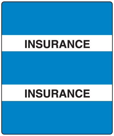 300 Series Create Your Own Patient Chart Divider Tab Insurance  1-1/2