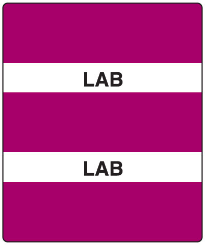 300 Series Create Your Own Patient Chart Divider Tab Purple Lab  1-1/2