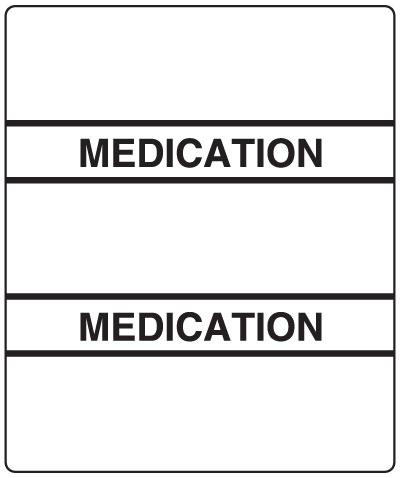 300 Series Create Your Own Patient Chart Divider Tab White Medication  1-1/2