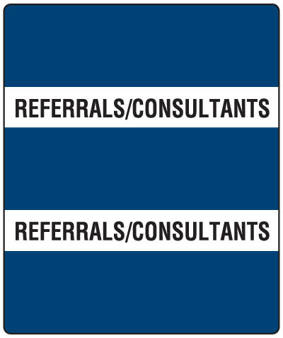 300 Series Create Your Own Patient Chart Divider Tab Referrals/Consultnts  1-1/2
