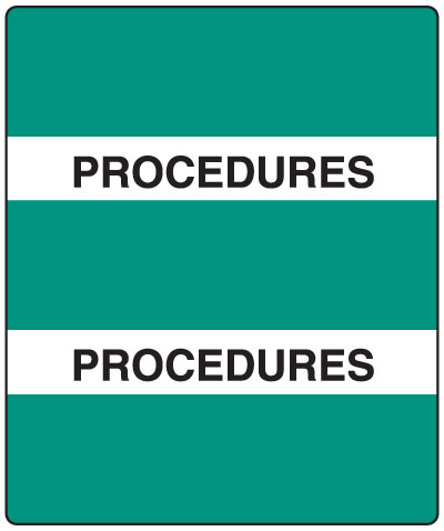 300 Series Create Your Own Patient Chart Divider Tab Procedures  1-1/2