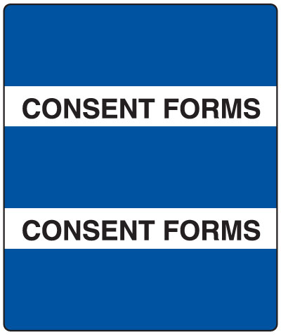 300 Series Create Your Own Patient Chart Divider Tab Consent Forms   1-1/2