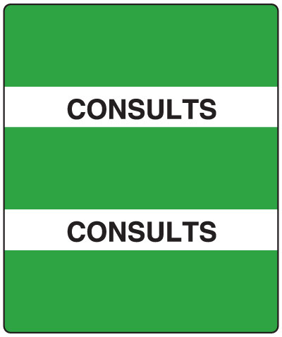 300 Series Create Your Own Patient Chart Divider Tab Consults   1-1/2
