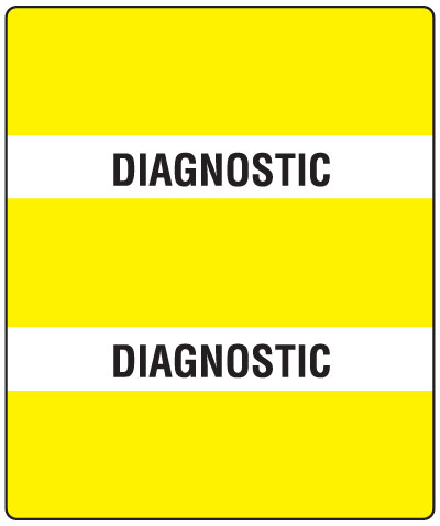 300 Series Create Your Own Patient Chart Divider Tab Diagnostic  1-1/2