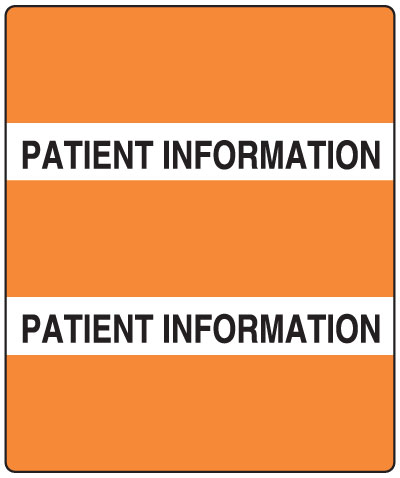 300 Series Create Your Own Patient Chart Divider Tab Patient Information   1-1/2