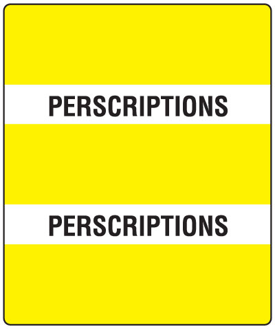 300 Series Create Your Own Patient Chart Divider Tab Prescriptions   1-1/2