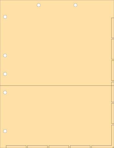 Manila Index Chart Divider Sheets With Pocket Overall size: 8-1/2