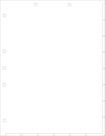 White Index Chart Divider Sheet Overall Size: 8-1/2