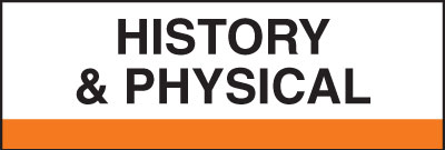 400 Series Create Your Own Patient Chart Divider Tab History & Physical  Orange 1-1/4