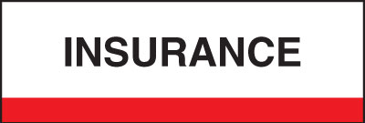 400 Series Create Your Own Patient Chart Divider Tab Insurance  Red 1-1/4