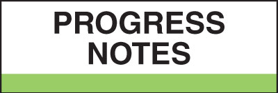 400 Series Create Your Own Patient Chart Divider Tab Progress Notes  Light Green 1-1/4