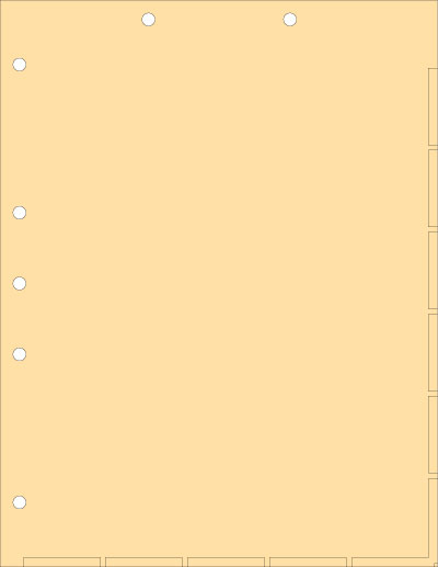 Manila Index Chart Divider Sheets Overall size: 8-1/2