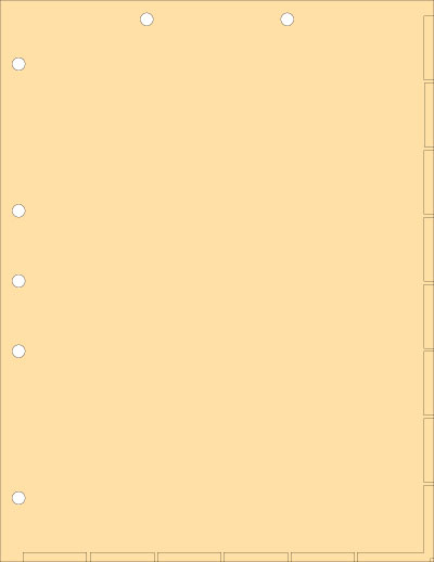 Manila Index Chart Divider Sheet Overall Size: 8-1/2