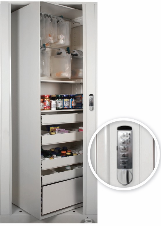 Keyless or Keypad Entry for Rotating Cabinet