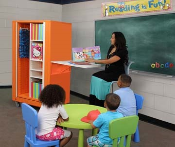 Teacher Classroom Rotating Mobile Storage Cabinet
