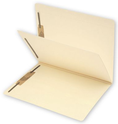 Single Divider Folder with fasteners