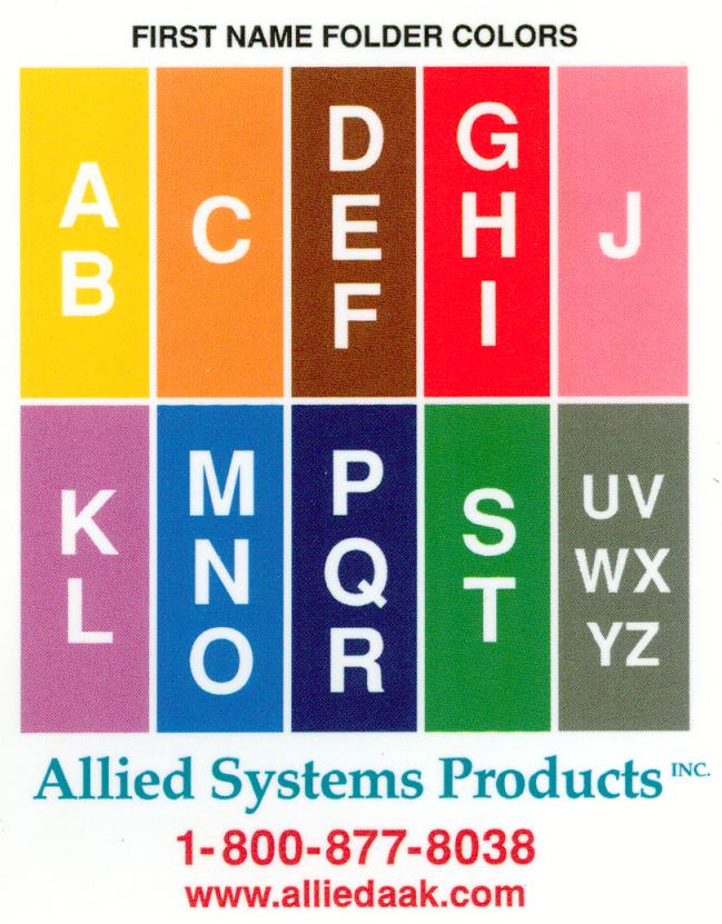 Allied Systems Products Color Chart System
