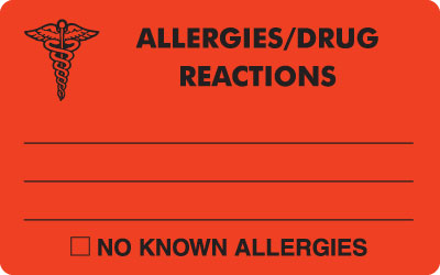 Allergies / Drug Reactions  Red 4