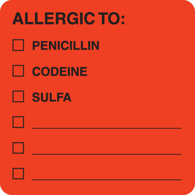 Allergic To:  Fluorescent Red 2