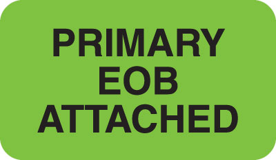 Primary Eob Attached  Fluorescent Green 1-1/2