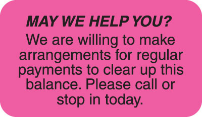 May We Help You  Fluorescent Pink 1-1/2