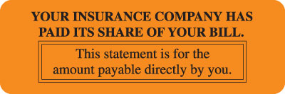Insurance Has Paid its share Fluorescent Orange 3