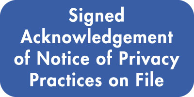 Acknowledgment of Notice of Privacy Practices  Blue / White 2
