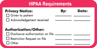 HIPAA Requirements  White / Red 4