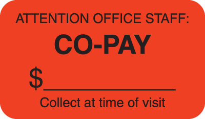 Co-Pay  Fluorescent Red 1-1/2