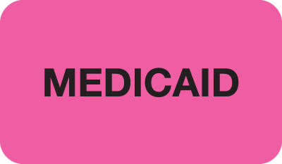 Medicaid  Fluorescent Pink 1-1/2