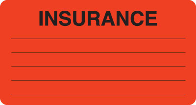 Insurance  Fluorescent Red 3-1/4