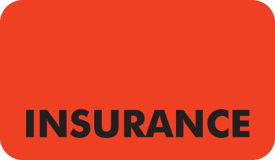 Insurance  Fluorescent Red 1-1/2